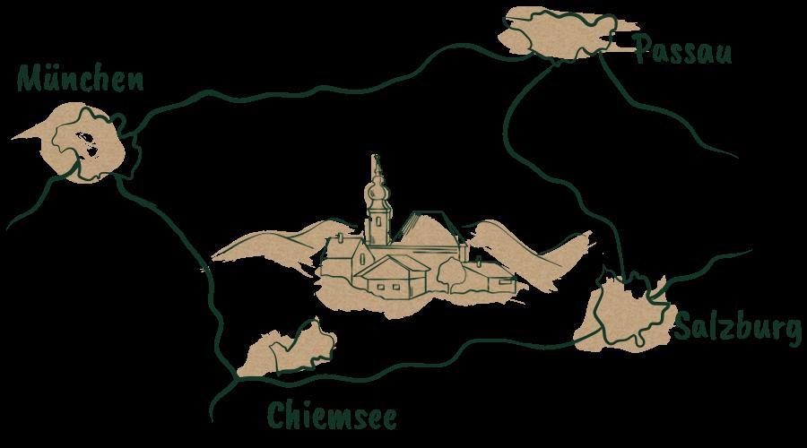 Lageplan von Kirchweidach